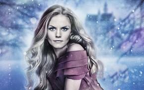 Картинка взгляд, поза, Jennifer Morrison, сериал, Дженнифер Моррисон, hair, Однажды в сказке, Once Upon a Time, …