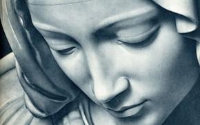 Картинка взгляд, печаль, статуя, шумы фото