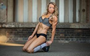 Картинка blonde, floor, fitness body, Matt marsh