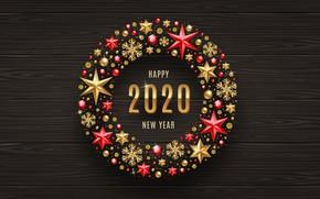 Картинка звезды, украшения, снежинки, Рождество, Новый год, Christmas, New Year, 2020