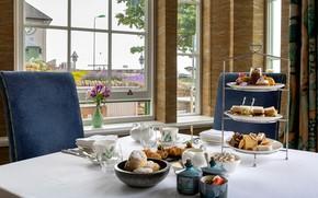 Картинка чай, пирожные, традиция, булочки, afternoon tea, круасаны, послеобеденный чай