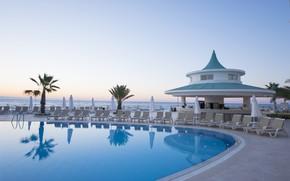 Картинка пальмы, бассейн, Турция