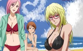 Картинка Kuroko no Baske, пляж, девушки, Баскетбол Куроко