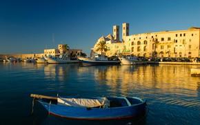 Картинка дома, порт, Италия, Апулия, Мольфетта