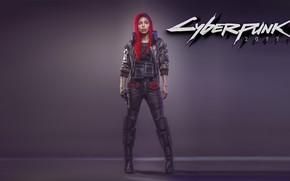 Обои Девушка, Киберпанк, Cyberpunk 2077, Видеоигра, Концепт Арт, 2077, Киборги, Концепт-Арт, Cyberpunk, Игра, CD Projekt RED, ...