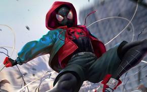 Картинка костюм, AIR, человек паук, spider man, подросток, Miles Morales, Майлз Моралес, into the spider verse