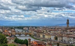 Картинка Италия, панорама, Флоренция