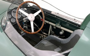 Картинка Aston Martin, Спидометр, Руль, Formula 1, 1959, Classic car, Sports car, Кокпит, Aston Martin DBR4