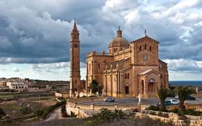 Картинка город, Мальта, Базилика Та-Пину на о. Гозо