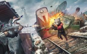 Картинка взрыв, перестрелка, 2020, Season 7, PlayerUnknown's Battlegrounds, PUBG Corporation
