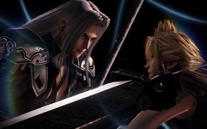 Картинка противостояние, парни, двое, Dissidia Final Fantasy NT