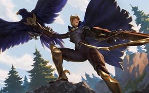 Картинка девушка, птица, Quinn, Legends of Runeterra