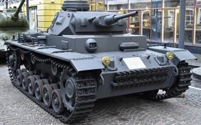 Картинка Германия, средний танк, Panzer III, времён, Второй мировой войны, Ausf.J