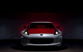 Картинка свет, купе, Nissan, вид спереди, красно-белый, 370Z, 50th Anniversary Edition, 2020, 2019