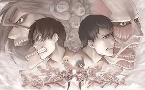 Картинка атака титанов, Shingeki no Kyojin, вторжение титанов