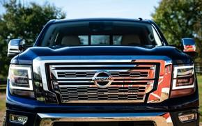 Картинка капот, перед, Nissan, пикап, Titan, 2020, Titan XD SL