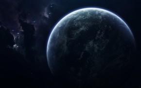 Картинка Звезды, Планета, Космос, Туманность, Звезда, Star, Арт, Stars, Space, Art, Planet, Nebula, Fortress, Пространство, Vadim …