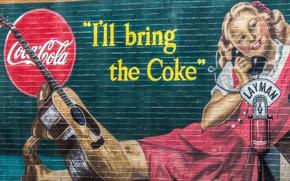 Картинка graffiti, Coca-Cola, Wall, brand