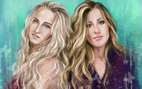 Картинка девушки, портрет, блондинки