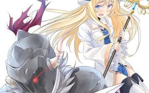 Картинка девочка, рыцарь, Goblin Slayer, Убийца гоблинов