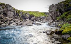 Картинка Mountain, River, Landscape, Nature