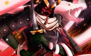 Картинка доспехи, самурай, шлем