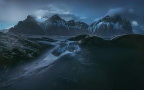 Картинка небо, вода, облака, природа, Гора, Исландия, Михалюк Сергей