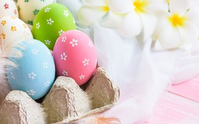 Картинка цветы, яйца, Пасха, flowers, spring, Easter, eggs, decoration, pastel colors