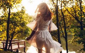 Картинка вода, солнце, свет, Девушка, платье, Roma Roma, Александра Иванова