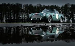 Картинка Aston Martin, Отражение, Фары, Classic, 2018, Classic car, 1958, DB4, Sports car, Aston Martin DB4 …