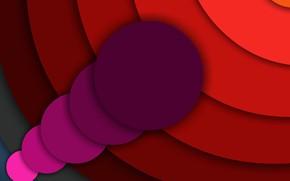 Картинка круги, тени, слои