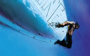 Картинка Самолет, Росомаха, Логан, Комикс, Когти, Wolverine, Logan, Marvel, Marvel Comics, Comics, Марвел, Комиксы, James Howlett, …
