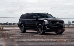 Картинка Cadillac, Escalade, Black, America, LED lights, ESV