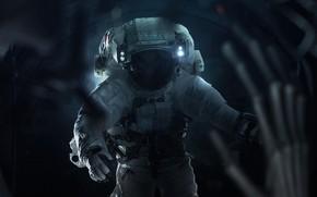 Картинка Скафандр, Космос, Чужой, Астронавт, Костюм, Космонавт, Арт, Space, Art, Инопланетянин, Alien, Encounter, Costume, Cosmos, Astronaut, ...