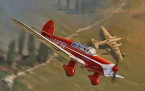 Картинка airplane, aviation, Percival P.10 Vega Gull