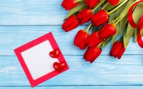 Картинка любовь, цветы, букет, сердечки, тюльпаны, красные, red, love, flowers, beautiful, romantic, hearts, tulips, spring