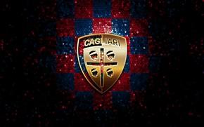 Картинка wallpaper, sport, logo, football, glitter, checkered, Cagliari