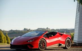 Картинка Lamborghini, суперкар, Spyder, 2018, Performante, Huracan, North America version