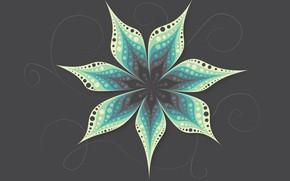 Картинка цветок, фон, текстура, Зеленый