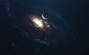 Картинка Звезды, Планета, Космос, Звезда, Star, Арт, Stars, Space, Art, Planet, Universe, Galaxy, Фантастика, Whirlpool, Science …
