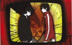 Картинка рамка, парень, экран, Kagerou Project