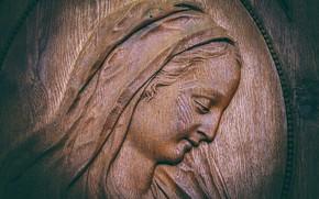 Картинка лицо, Мария, древесина, религия, вера, резьба по дереву, входной диапазон, санкт-блеза, деревянные скульптуры, церковные двери