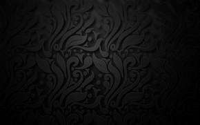 Картинка фон, узор, черный