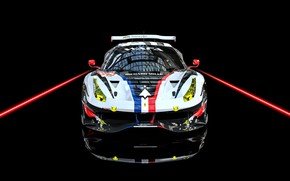 Картинка Авто, Машина, Car, Render, Суперкар, Supercar, FIA, Ferrari 488, Racecar, Transport & Vehicles, Benoit Fraylon, …
