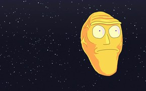 Картинка Минимализм, Космос, Smith, Мультфильм, Sanchez, Rick, Rick and Morty, Рик и Морти, Morty, Rick Sanchez, ...