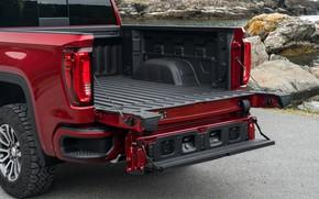 Картинка кузов, пикап, GMC, Sierra, AT4, 2019, задний борт