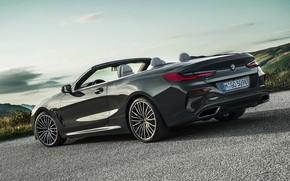 Картинка небо, асфальт, BMW, кабриолет, xDrive, G14, 8-series, 2019, 8er, M850i Convertible