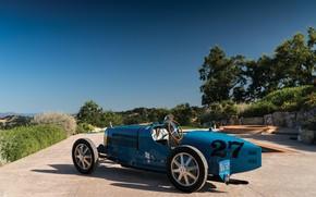 Картинка Blue, Vintage, 1927, Bugatti Type 35C