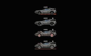 Картинка Авто, Минимализм, Машина, Стиль, Фон, DeLorean DMC-12, Арт, Art, Фильм, Style, DeLorean, DMC-12, Фантастика, Background, …