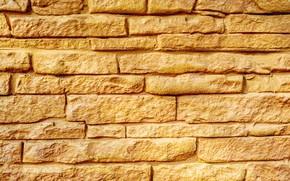 Картинка жёлтый, кирпич, Текстуры